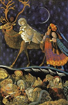 the snow queen illustrated by errol le cain - Google Search