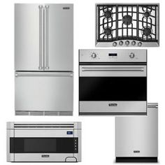 Package V5 - Viking Appliance Package - 5 Piece Luxury Built In Appliance Package - Stainless Steel - Gas