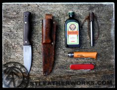 All you need with a custom leather knife sheath from www.stleatherworks.com www.facebook.com/stleatherworks www.instagram.com/stleatherworks