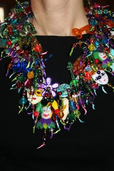 The Big Easy Bib style collage necklace by Wearinglolo on Etsy