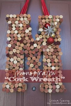 How To... Monogram Cork Wreath  | from Living Savvy