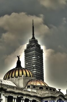 Mexico City - the Hard Way. Torre Latino and Bellas artes