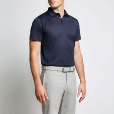 a928ebc9 Merlin Mercerised Polo in Navy, by Calm Collected Crew Clothing, Polo Shirts,  Luxury