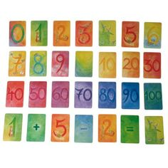 Make your child's introduction to numbers and matha joy with our Waldorf NumberCards! Each of the 32 sturdy cards features a gorgeous watercolor painting of a