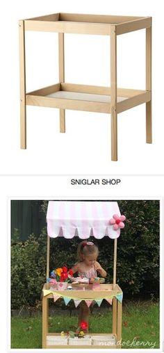 Ikea hack   change table - shop - would make a great lemonade stand!
