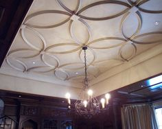 AWESOME ceiling treatment for a formal dining room!  Love this!