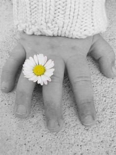 spring - kids hand - flower - fleur - main d'enfant - printemps.