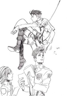 Erwin Smith x Rivaille (Levi)           This picture makes me so incredibly happy, and I don't even know why...