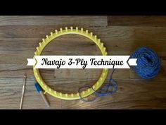 Navajo 3 ply technique, or, how to use skinny yarn on a large gauge loom. Loom Knitting Stitches, Loom Knitting Projects, Knitting Videos, Yarn Projects, Loom Hats, Loom Knit Hat, Knitted Hats, Textile Fiber Art, Yarn Thread