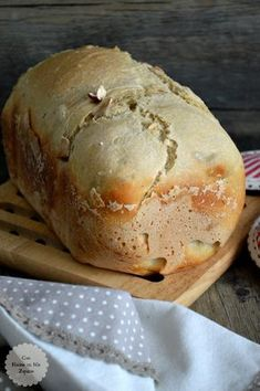 Good Healthy Recipes, My Recipes, Favorite Recipes, Bread Machine Recipes, Bread Recipes, Pan Bread, Bread And Pastries, Food Cravings, Bakery