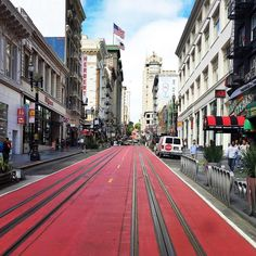 Red road is for cable car.  #cablecar #powellandmarket #powellandhyde #sanfrancisco #bayarea #california #sanjose #cali #norcal #america #usa #unitedstates #holiday #vacation #trip #travel #adventure #holiday #vacation #backpack #backpacking #adventure #trip #travelgram #travel #explore #dianewanderlust #wanderlust #photooftheday #igerssf by tangytango