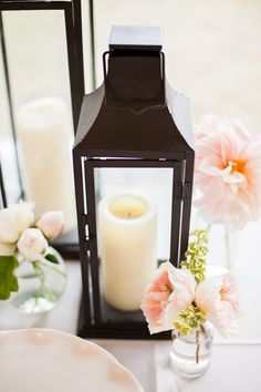 A Gorgeous Blush Pink and Cream accent- lanterns always put a nice touch for almost any wedding