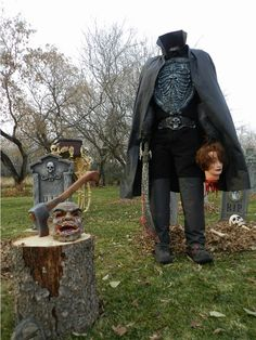 Headless Horseman Prop. Add a stump and axe with talking head for a special effect.