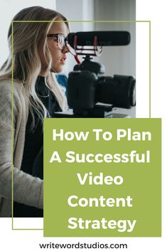 How To Plan A Successful Video Content Strategy. Tips for planning a content strategy for your videos. #videos #content #marketing #blogging #workfromhome #howto #videocontent #contentstrategy #videocontentstrategy #marketingstrategy #bloggingtips #freelance