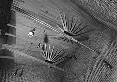 Roof Beams. Säynätsalo Town Hall, Finland. Alvar Aalto, 1951.