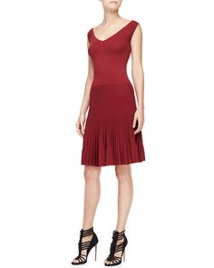 Donna Karan fit and flare dress