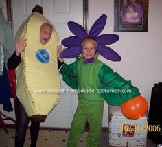 Banana Halloween Costume: I hand stitched every last stitch on each of these costumes. It took me a very long time but was well worth the effort. Banana: The banana Halloween Fruit Costumes, Halloween Costumes, Halloween Ideas, Banana Flower, Homemade Costumes, Last Stitch, Hand Stitching, Cute Pictures, Ronald Mcdonald