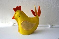 Wool Felt Chicken Egg Cosy  Easter Decoration by stitchandpurl, £4.99