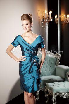 K148014 Off shoulder Teal knee length V-neck mother of the bride dresses 2013 Fall on AliExpress.com. $138.00