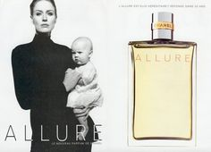 """""""L'allure--est elle héréditaire?  Réponse dans 20 ans."""" Allure: Is it hereditary?  Answer in 20 years.  Of course I love the perfume with the mother and child in the ad campaign. @Amy Woolf Color Consulting (Western MA)"""