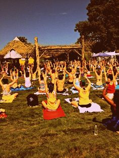 yoga at music festivals...nothing could be better (except for maybe a shower)