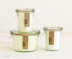 Small Weck Candle - Decorate - Heath Ceramics, after the wax has burned down, it becomes a storage container