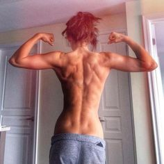 That is one sculpted back!!!