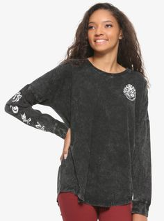 Youth Harry Potter Forbidden Forest Vintage Long Sleeve Shirt NEW Black