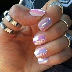 Purple Iridescent nails