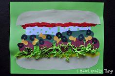 Fun Idea - Make your own Silly Sandwich Kids Food Crafts, Preschool Crafts, Kid Crafts, Sam Sandwich, Toddler Sandwiches, Grape Jam, Clean Eating Diet Plan, Restaurant Themes, Goldfish Crackers