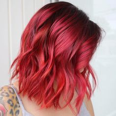 is the artist… Pulp Riot is the paint. Reavey DAlfonsi is the artist… Pulp Riot is the paint - Red Hair Red Bob Hair, Red Blonde Hair, Short Red Hair, Dyed Red Hair, Short Hair Styles, Short Bright Red Hair, Violet Hair, Brown Hair, Fire Red Hair