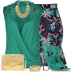 Fun Skirt by stephiebees on Polyvore featuring polyvore fashion style Plein Sud Mary Katrantzou Aquazzura Kenneth Jay Lane Material Girl Hive & Honey expressyourself