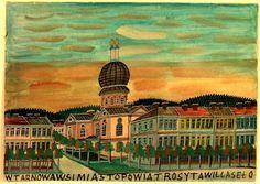 Synagoga w Tarnowie Fork Art, Grandma Moses, Henri Rousseau, Naive Art, Poland, Primitive, Taj Mahal, Inspiration, Paintings