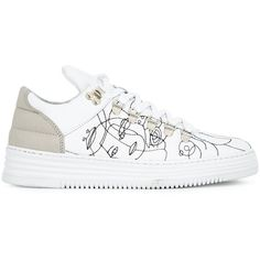 6a2d2a6ca498 Filling Pieces  Low Top  sneakers (€225) ❤ liked on Polyvore featuring  shoes