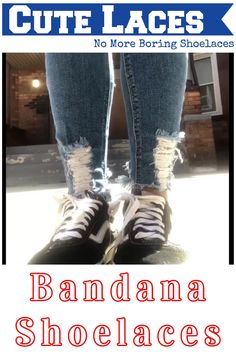 Red Bandana Metal Tipped Shoelaces. Bandanna Shoestrings