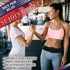 Amazon.com: SI Belt Sacroiliac Joint Brace - SI Joint Belt for Sciatica Nerve Pain Relief. Lower Back Support Hip Brace for Pelvis Stability. Low Back Belt for Lower Back Pain Relief for Men & Women (Large): Health & Personal Care Lower Back Pain Relief, Low Back Pain, Hip Brace, Lower Back Support, Si Joint, Sciatica Pain Relief, Nerve Pain, Stability, Personal Care