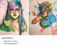 with highlighters?!!!!!!!!!!!!!!!!!!!!!!!!!!!!!!!!!!!! this person is amazing!