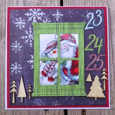 Christmas challenge by Magouille - Cards and Paper Crafts at Splitcoaststampers Christmas Challenge, Reuse, Advent Calendar, Christmas Crafts, Recycling, Creations, Card Making, Challenges, Paper Crafts