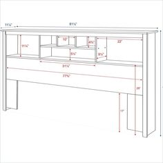 free bookcase headboard plans | DIY projects | Pinterest ...