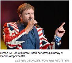"Duran Duran ""thrill the ladies"" at the Pacific Amphitheatre in Costa Mesa, CA"