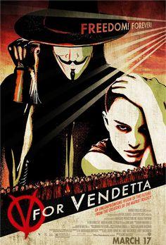 """""""V For Vendetta"""" movie poster (artistic)"""
