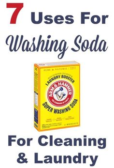 7 uses for washing soda around your home, for cleaning and laundry. This stuff is frugal and so very powerful, it works wonders! #ad