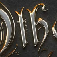 "Click through to read tutorial: ""Quick Tip: Create a Crisp Metallic Text Effect in Photoshop"""
