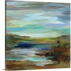 Great Big Canvas 'Reeds' by the Lake II' by Silvia Vassileva Painting Print on Canvas
