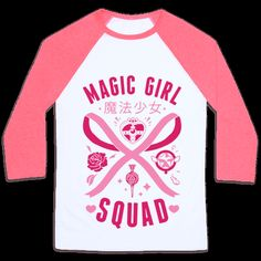 b594521fb51 Magic Girl Squad Baseball Tee