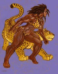 Jaguar Woman giftart for Skyjaguar by Jebriodo
