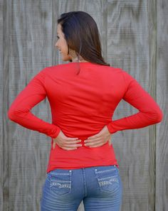 Active Basic Red and Grey Tops