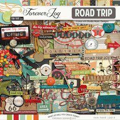 Digital Scrapbooking Kit - Road Trip  ForeverJoy Designs