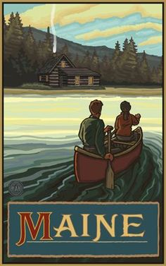 Maine travel poster