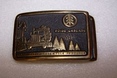 Boise Cascade Vintage 1978 Solid Red Brass Belt Buckle  Made in Oregon by Viking #Viking